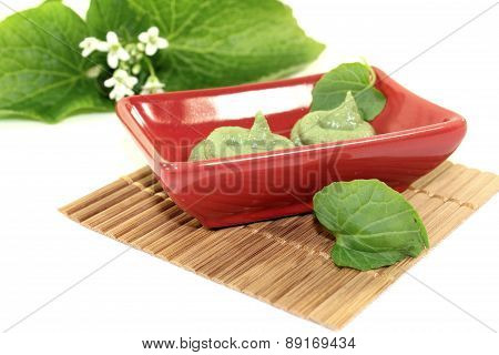 Spicy Wasabi With Leaf And Blossom