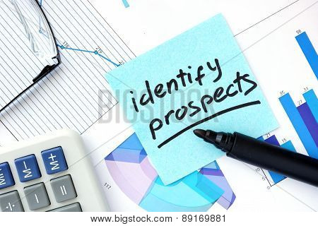 Papers with graphs and Identify Prospects concept.