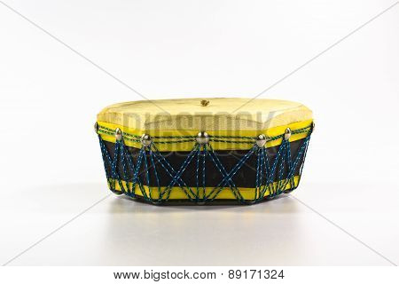 etnic drum isolated on white background