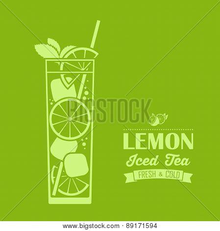 Lenon Iced Tea Background