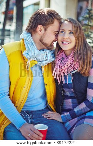 Romantic couple spending time outdoors