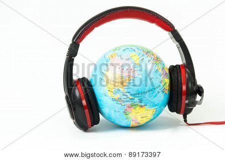 communication world listening isolated on white background