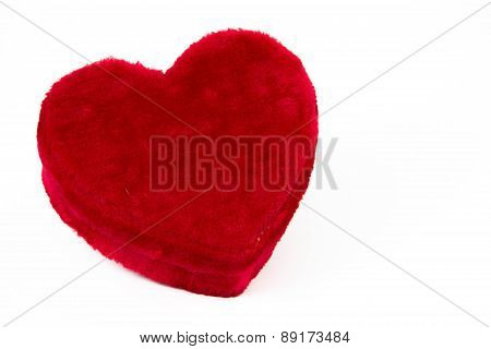valentines heart soft candy box isolated on white background