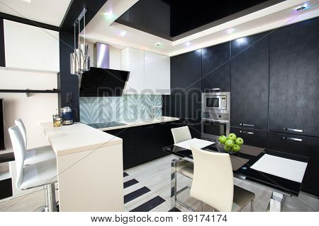 Interior kitchen. Modern kitchen