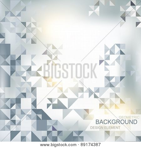 abstract background with elements of geometric shapes, triangle