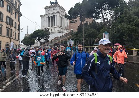 Participants In The Small Rome Marathon.