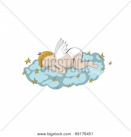 sleeping angel on the cloud