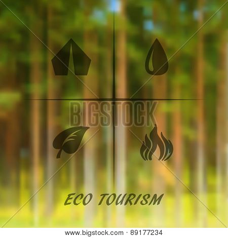 Vector Blurred Landscape Background.