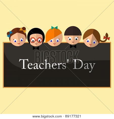 Vector Illustration - Happy Teachers Difference Teachers Contributions. An Annual Celebration On Tue