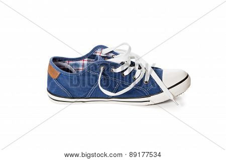Blue Athletic Shoe