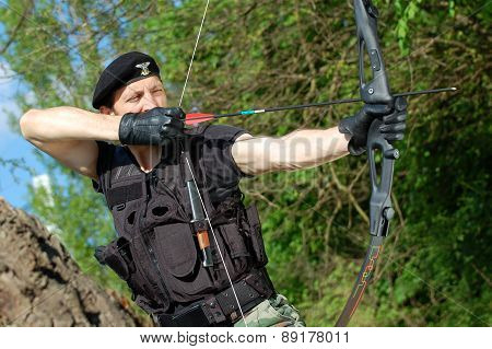 Soldier With Bow And Arrow