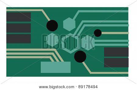 Vector. Circuit Board. Technology Concept