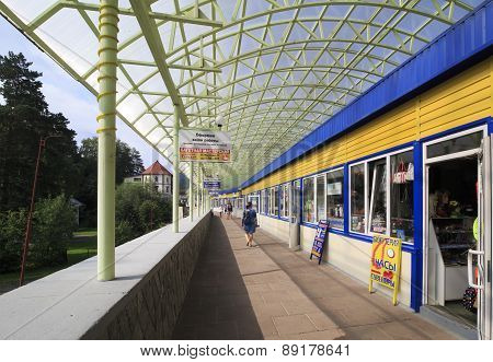 Shopping gallery at the resort Belokuriha.