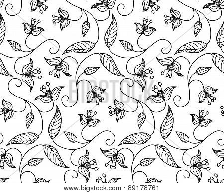 Folk Stylized Floral Ornament