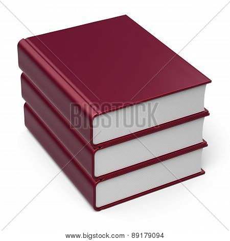 Books Stack 3 Three Blank Cover Red Content Archive Icon