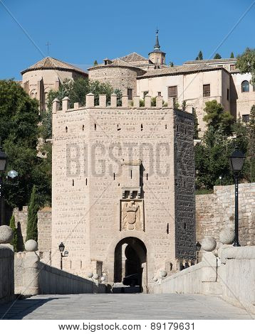 Alcantara Bridge Entrance. Toledo.spain