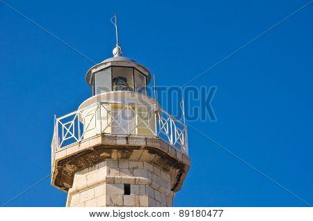 Lighthouse. Molfetta. Puglia. Italy.