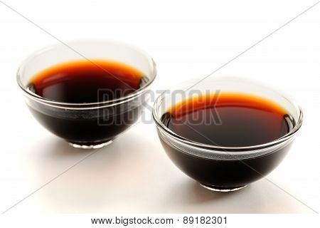 Two Glass Cups With Puerh Tea