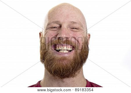 happy young man smiling at the camera isolated