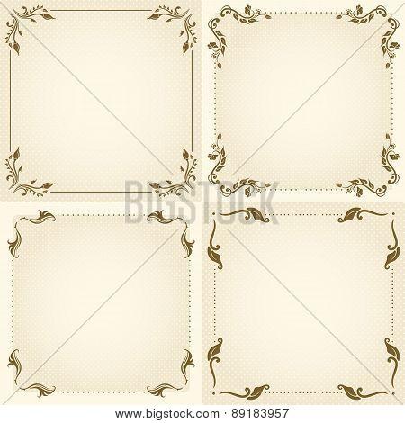 Vector Set Of Vintage Frame.