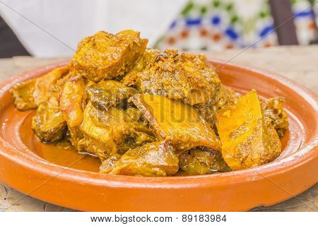 Moroccan braised lamb meat