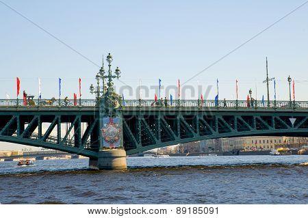 Russia, St. Petersburg. Troitsky Bridge