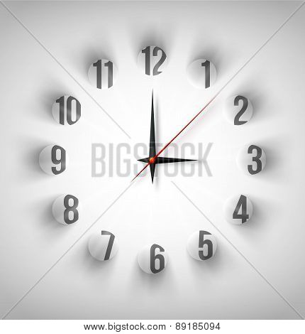 Abstract clock with white circles