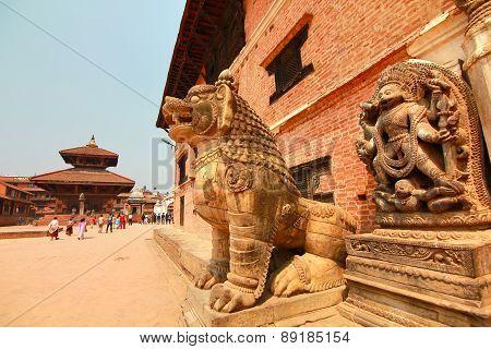 Bhaktapur Durbar Square at Kathmandu Valley, Nepal