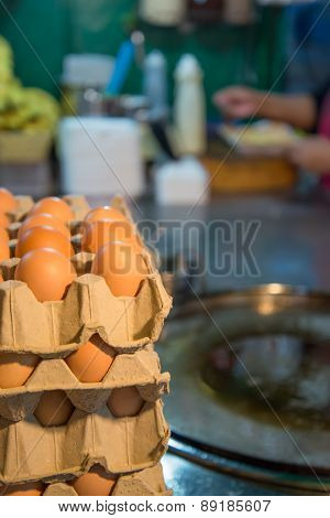 Egg for making an indian traditional food made of flour