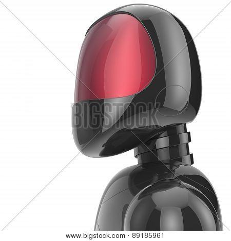 Robot Cyborg Dummy Black Futuristic Bot Spaceman Concept