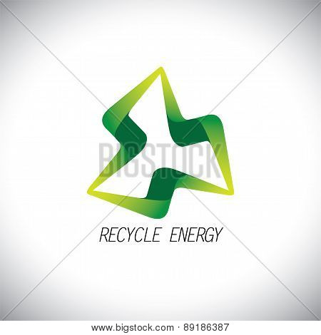 Eco Recycle Concept Power Icon Design Vector Logo