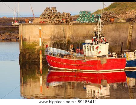 Fishing Boats Seahouses Harbour