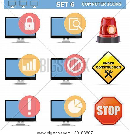Vector Computer Icons Set 6
