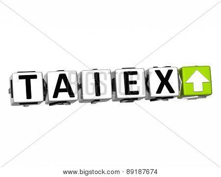 3D Taiex Stock Market Block Text On White Background