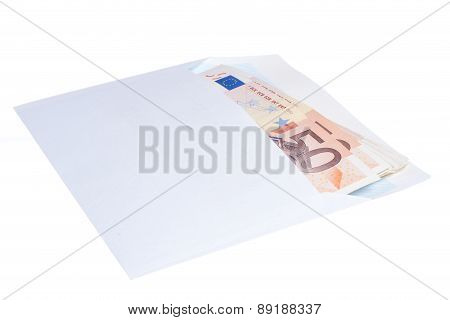 Euro Notes In Envelope