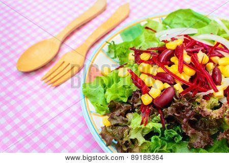 Close Up Of Fresh Salad
