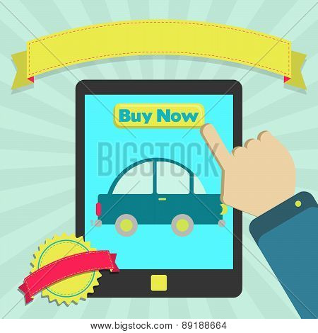 Buy Car Online Through Tablet