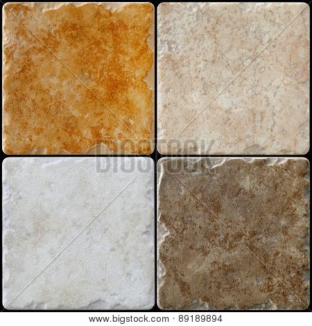 marble  background tiles travertine, mosaic colored gray, brown and orange