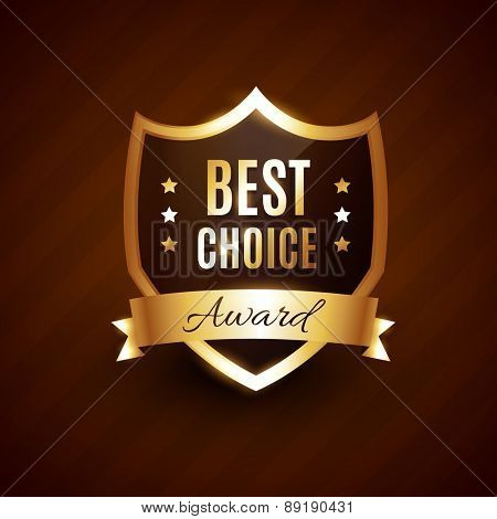 best choice golden award label badge design