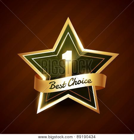 no. 1 best choice golden label badge vector design