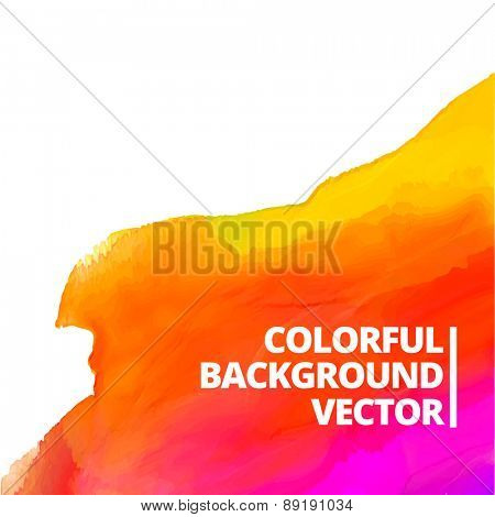 colorful watercolor vector background design illustration