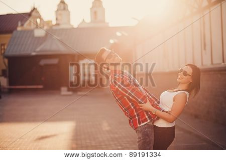Positive Couple In Jeans