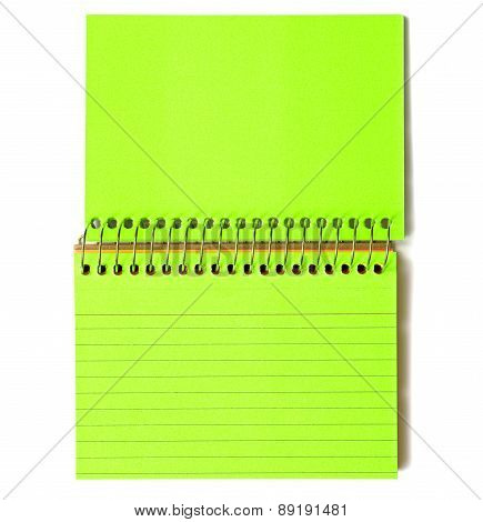 Blank Index Cards Spiral Bound Green