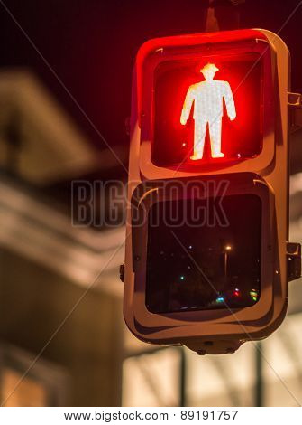 Red Traffic Light, For Pedestrians, Japan