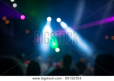 Blurred Disco Party