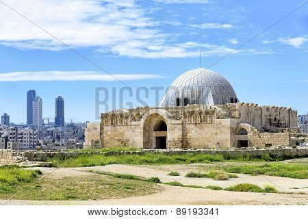Umayyad Palace At The Citadel In Amman, Jordan