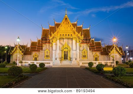 Wat Benchamabophit or The Marble Temple