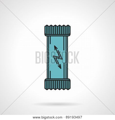 Energy bar flat vector icon