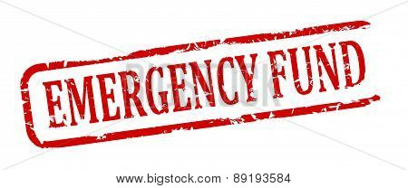 Damaged Oval Stamp - Emergency Fund