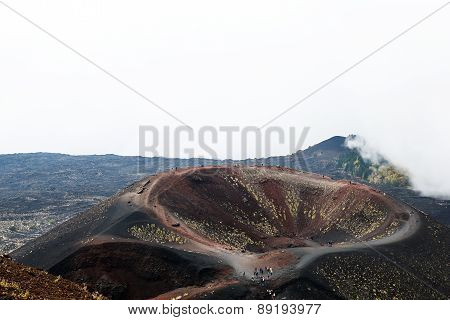 Scenery And Craters Silvestri Of Mt. Etna Volcano